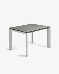Tavolo allungabile Axis 120 (180) cm porcellanato finitura Hydra Piombo gambe grigio