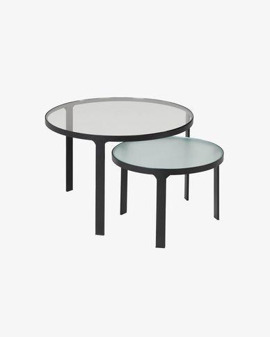 Oni set of 2 side tables Ø 70 cm / Ø 50 cm