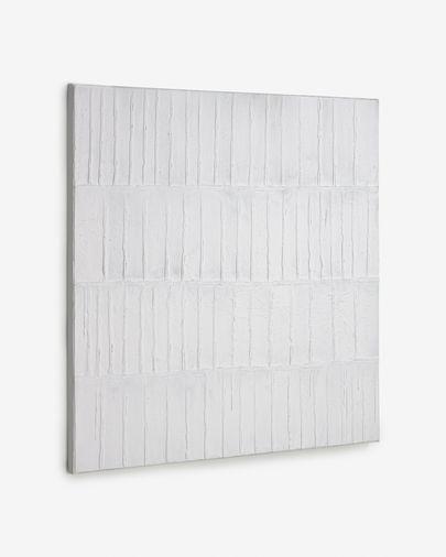 Quadre Basilisa blanc i gris 90 x 90 cm