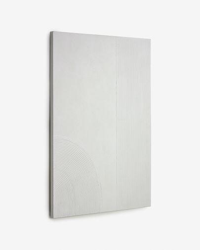 Kunstwerk Adelta met witte lijnen 80 x 110 cm