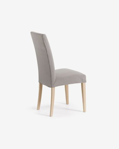 Freda chair light grey and natural