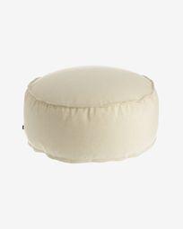 Round Ø 70 cm Beige Nedra pouf