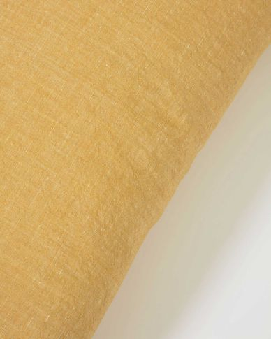 Eirenne cotton and linen cushion cover in mustard 30 x 50 cm