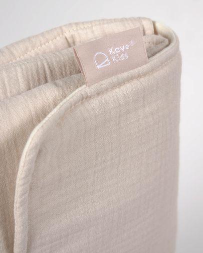 Matelas à langer de voyage Jeila 100% coton bio (GOTS) beige