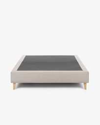 Bed base high Nikos 180 x 200 cm beige