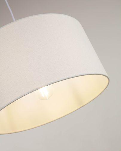 Pantalla lámpara de techo Santana de borrego blanco Ø 50 cm