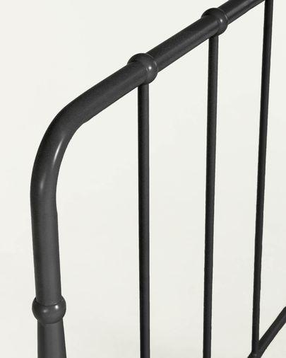Cabecero Naomy de metal con acabado grafito 98 x 110 cm