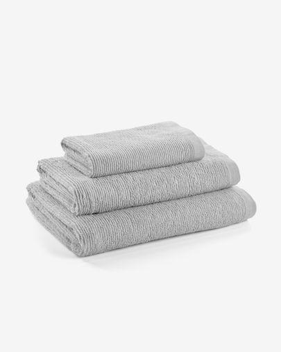 Miekki hand towel light grey
