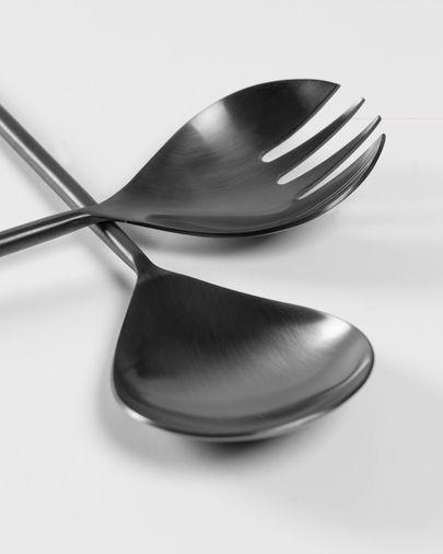 Fer 2-piece cutlery set for salad black