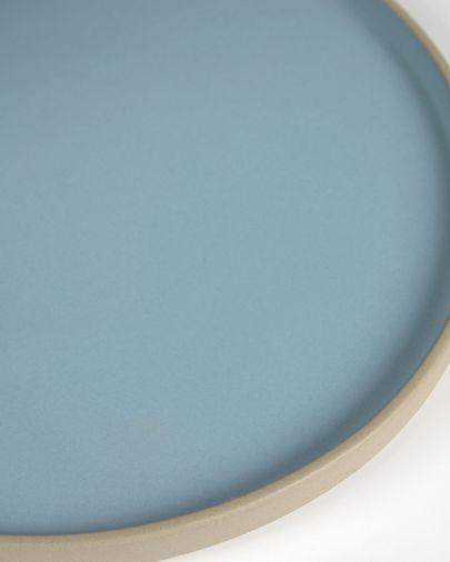 Płaski talerz Midori żółty ceramiczny