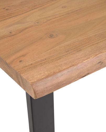 Mesa alta Alaia de madera maciza de acacia con acabado natural 140 x 60 cm