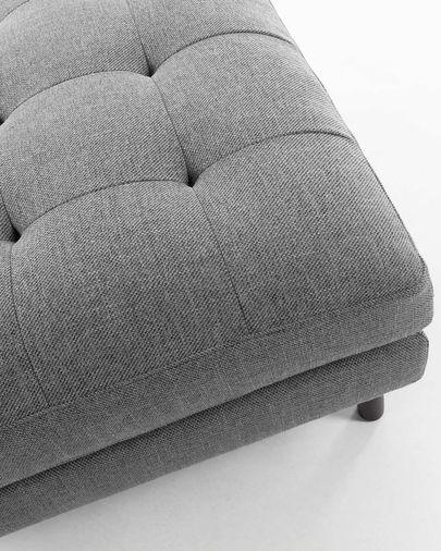 Dark grey Debra footstool 80 x 80 cm