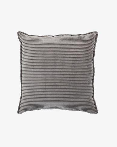 Grey corduroy Wilma cushion cover 60 x 60 cm
