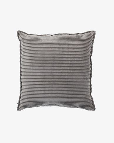 Wilma Kissenbezug 60 x 60 cm, grauer Kord