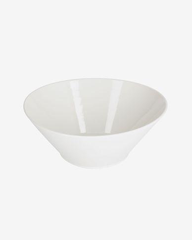 Ciotola grande ovale Pierina in porcellana bianca