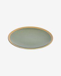 Tilla ceramic dinner plate in dark green