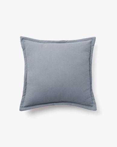 Housse de coussin Lisette 45 x 45 cm bleu