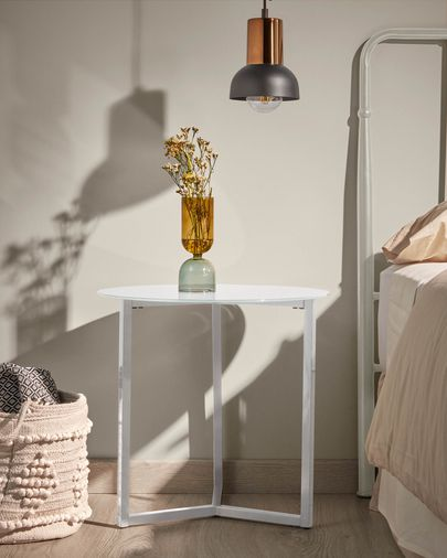 White Raeam side table Ø 50 cm