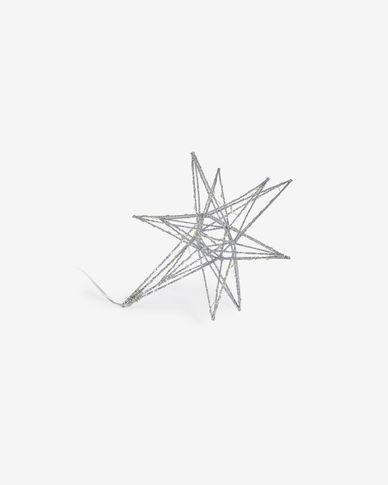 Lichtgevende ster Nicoletta klein zilver