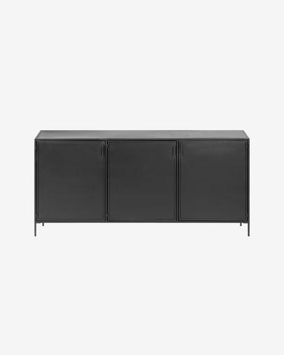 Shantay Sideboard aus Stahl mit schwarzem Finish 160 x 72 cm