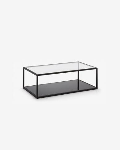 Rechthoekige salontafel Blackhill zwart 110 x 60 cm