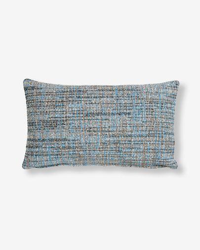 Fodera cuscino Boho 30 x 50 cm blu