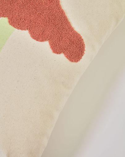Funda cojín Leshy 100% algodón setas multicolor 45 x 45 cm