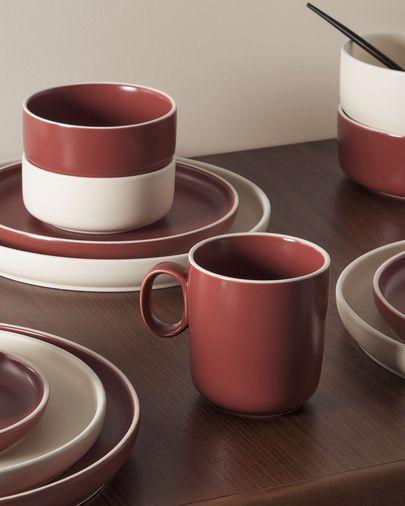 Roperta porcelain coffee cup in terracotta