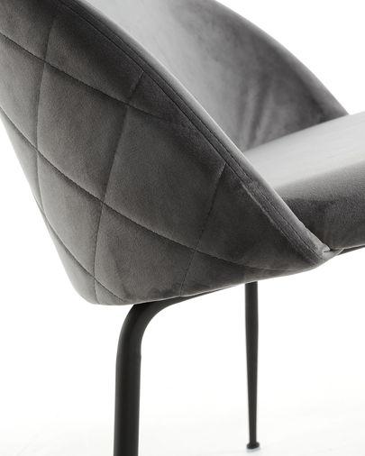 Grey velvet Ivonne bench 120 cm