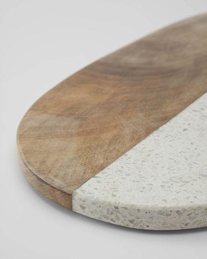 Plateau Augustine en granit et bois