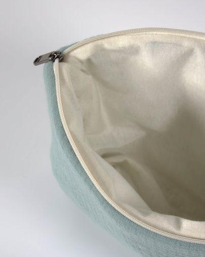 Neceser Breisa 100% algodón orgánico (GOTS) turquesa