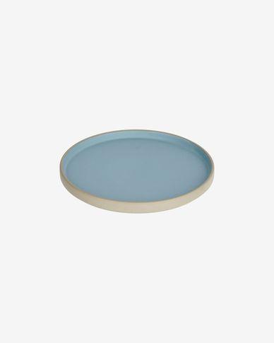 Piatto da dessert Midori in ceramica blu