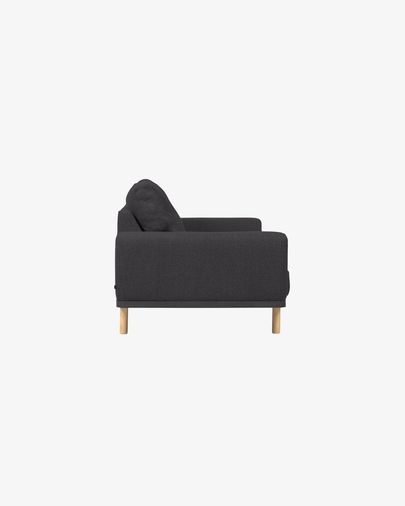 Noa grey 3-seater sofa with natural finishing legs 230 cm