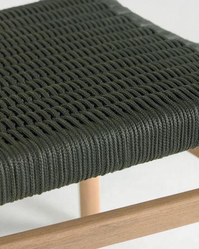 Cadira Galit de fusta massissa eucaliptus amb acabat natural i corda verd