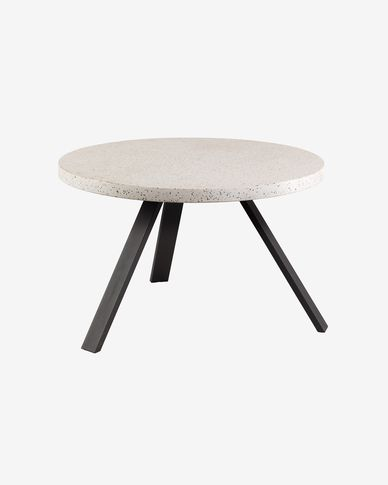 Table Shanelle Ø 120 cm blanc