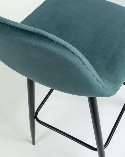 Turquoise fabric Nolite barstool height 75 cm