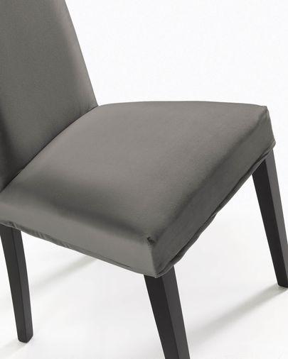 Sedia Freda velluto grigio e nero