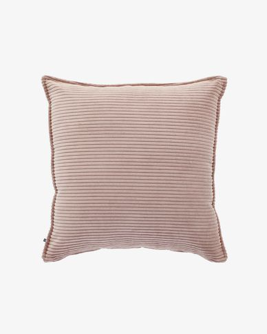 Pink corduroy Wilma cushion cover 60 x 60 cm