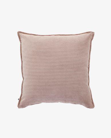 Kussensloop Wilma 60 x 60 cm roze corduroy