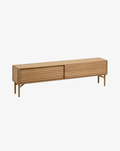 Lenon oak TV stand 200 x 57 cm with oak veneer FSC MIX Credit