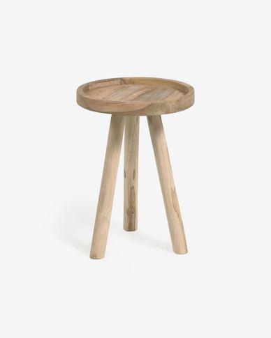 Mesa de apoio Glenda madeira maciça teca Ø 35 cm