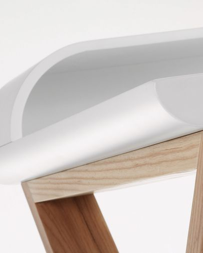 White and ash Working desk 120 x 79 cm