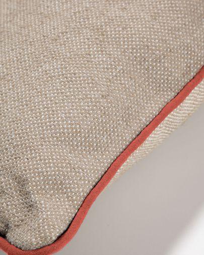 Funda de cojín exterior Dalila de PET beige 60 x 60 cm