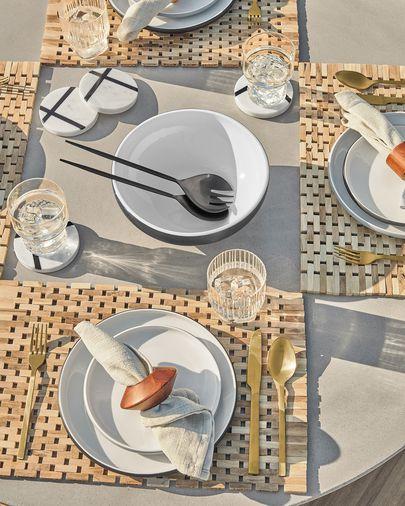 Tamar Set of 2 solid acacia wood napkin rings