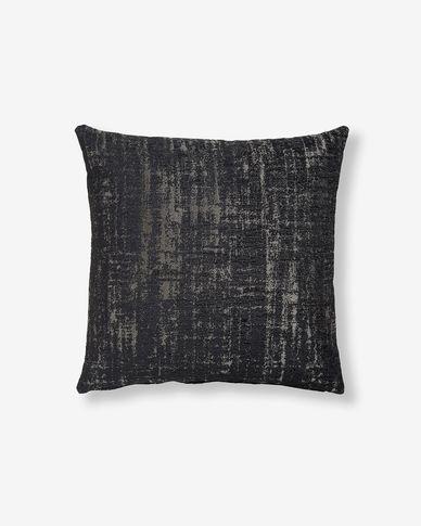 Housse coussin Nazca 45x45 cm noir