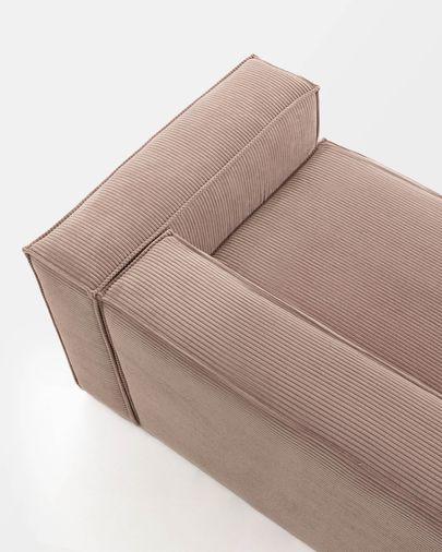 Blok 2-Sitzer Sofa Kord rosa 210 cm