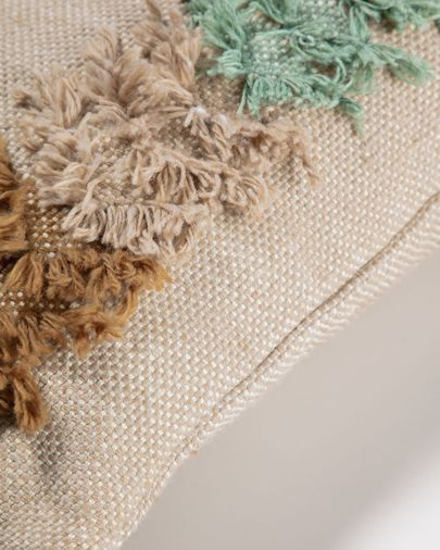 Dalila PET  brown patterned cushion cover