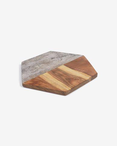 Deska do serwowania Sinai w drewnie i kamieniu