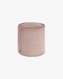 Poef Wilma roze corduroy klein Ø 40 cm
