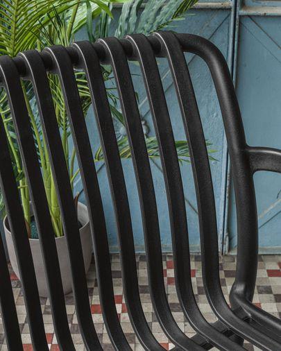 Isabellini tuinstoel zwart